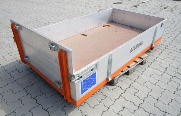 (Deutsch) Pritsche 2100×1150 mit Alu-Bordwänden